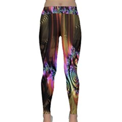 Fractal Colorful Background Classic Yoga Leggings