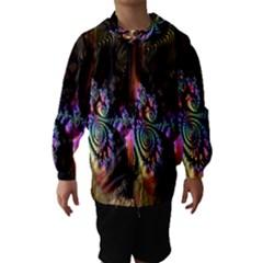 Fractal Colorful Background Hooded Wind Breaker (Kids)