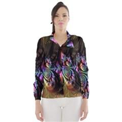 Fractal Colorful Background Wind Breaker (Women)