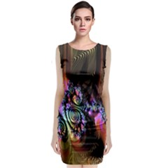 Fractal Colorful Background Classic Sleeveless Midi Dress