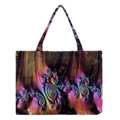 Fractal Colorful Background Medium Tote Bag