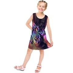 Fractal Colorful Background Kids  Tunic Dress