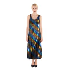 Fractal Art Digital Art Sleeveless Maxi Dress