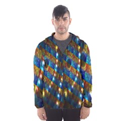 Fractal Art Digital Art Hooded Wind Breaker (Men)