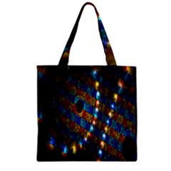Fractal Art Digital Art Zipper Grocery Tote Bag