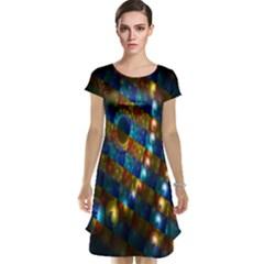 Fractal Art Digital Art Cap Sleeve Nightdress