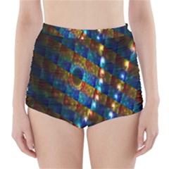 Fractal Art Digital Art High-Waisted Bikini Bottoms
