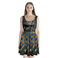 Fractal Art Digital Art Split Back Mini Dress