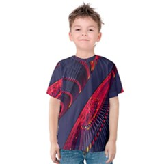 Fractal Art Digital Art Kids  Cotton Tee