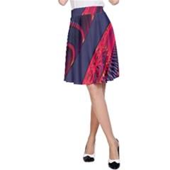 Fractal Art Digital Art A Line Skirt