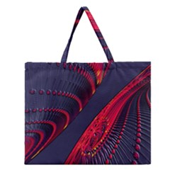 Fractal Art Digital Art Zipper Large Tote Bag