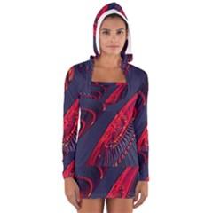 Fractal Art Digital Art Women s Long Sleeve Hooded T Shirt