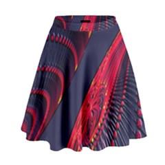 Fractal Art Digital Art High Waist Skirt