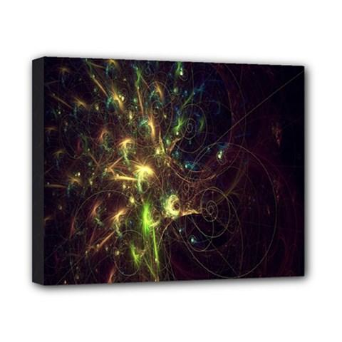 Fractal Flame Light Energy Canvas 10  x 8