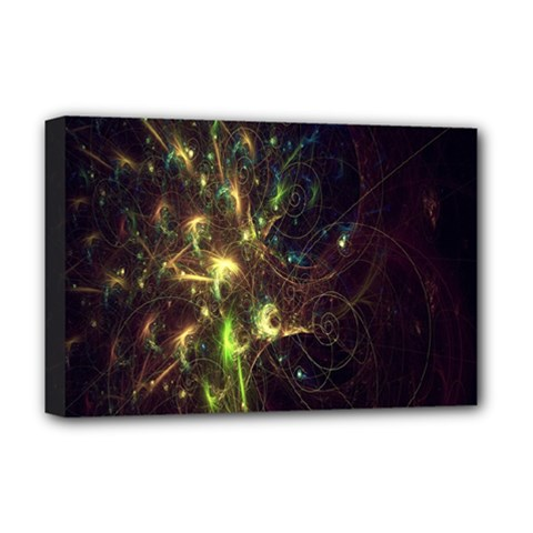 Fractal Flame Light Energy Deluxe Canvas 18  x 12