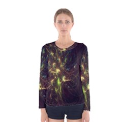 Fractal Flame Light Energy Women s Long Sleeve Tee