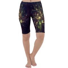 Fractal Flame Light Energy Cropped Leggings