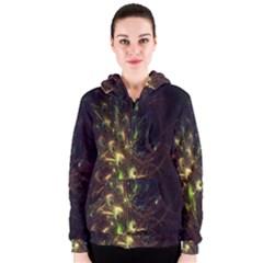 Fractal Flame Light Energy Women s Zipper Hoodie
