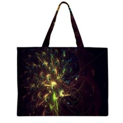 Fractal Flame Light Energy Large Tote Bag