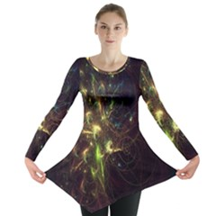 Fractal Flame Light Energy Long Sleeve Tunic