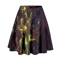 Fractal Flame Light Energy High Waist Skirt