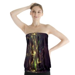 Fractal Flame Light Energy Strapless Top