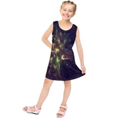Fractal Flame Light Energy Kids  Tunic Dress