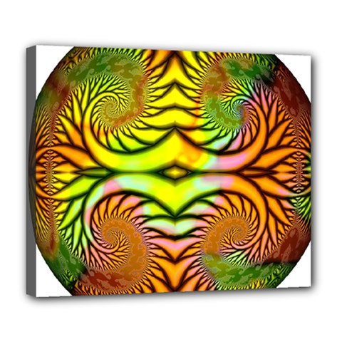 Fractals Ball About Abstract Deluxe Canvas 24  x 20