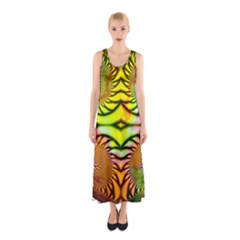 Fractals Ball About Abstract Sleeveless Maxi Dress