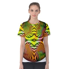 Fractals Ball About Abstract Women s Cotton Tee