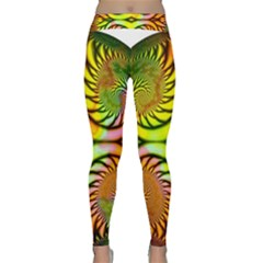 Fractals Ball About Abstract Classic Yoga Leggings