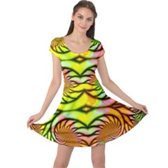 Fractals Ball About Abstract Cap Sleeve Dresses