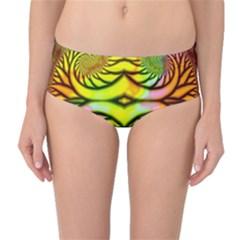 Fractals Ball About Abstract Mid-Waist Bikini Bottoms