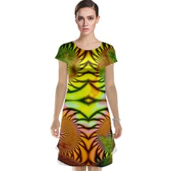 Fractals Ball About Abstract Cap Sleeve Nightdress