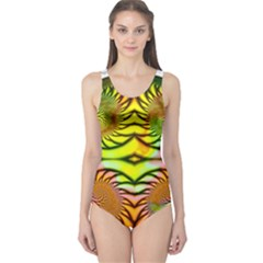 Fractals Ball About Abstract One Piece Swimsuit