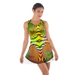 Fractals Ball About Abstract Cotton Racerback Dress