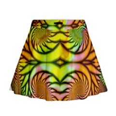 Fractals Ball About Abstract Mini Flare Skirt
