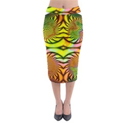 Fractals Ball About Abstract Midi Pencil Skirt