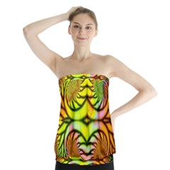 Fractals Ball About Abstract Strapless Top