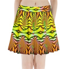 Fractals Ball About Abstract Pleated Mini Skirt