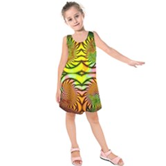 Fractals Ball About Abstract Kids  Sleeveless Dress