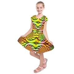 Fractals Ball About Abstract Kids  Short Sleeve Dress