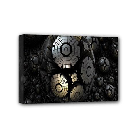 Fractal Sphere Steel 3d Structures Mini Canvas 6  x 4