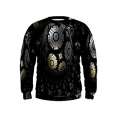Fractal Sphere Steel 3d Structures Kids  Sweatshirt