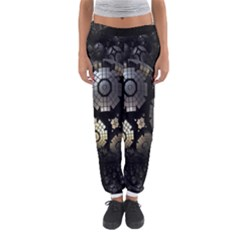Fractal Sphere Steel 3d Structures Women s Jogger Sweatpants