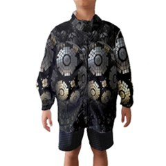 Fractal Sphere Steel 3d Structures Wind Breaker (Kids)