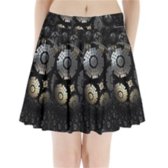 Fractal Sphere Steel 3d Structures Pleated Mini Skirt