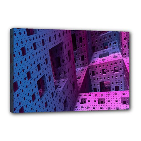 Fractals Geometry Graphic Canvas 18  x 12