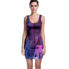 Fractals Geometry Graphic Sleeveless Bodycon Dress