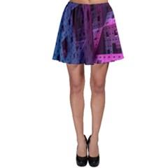 Fractals Geometry Graphic Skater Skirt